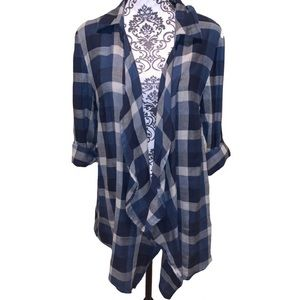NEW Style & Co. plaid peplum hem cardigan - PL